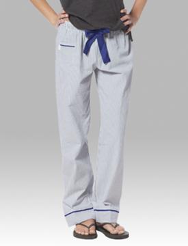 Boxercraft Women's Navy Seersucker Cotton Pajama Pant