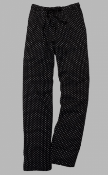 Boxercraft Black and White Swiss Dot Flannel Pajama Pant