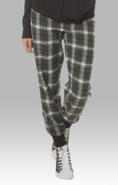 Boxercraft Green and White Plaid Flannel Tailgate Jogger