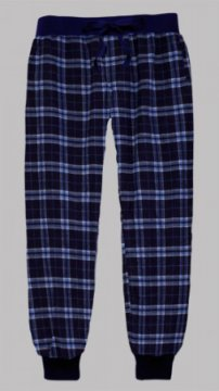 Boxercraft Navy and Columbia Plaid Flannel Tailgate Jogger