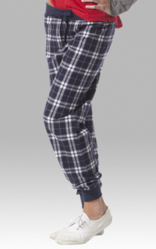 Boxercraft Navy and Silver Plaid Flannel Tailgate Jogger