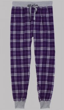 Boxercraft Purple and White Plaid Flannel Tailgate Jogger