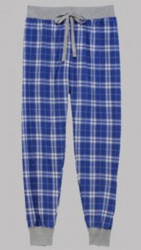 Boxercraft Royal and Silver Plaid Flannel Tailgate Jogger