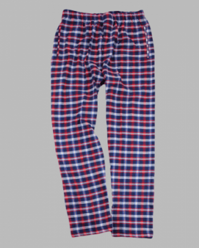 Boxercraft Men's Red & Blue Classic Plaid Flannel Pajama Pant