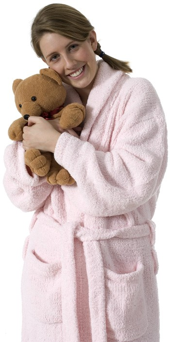 Kashwere Super Soft Shawl Collared Robe in Pink