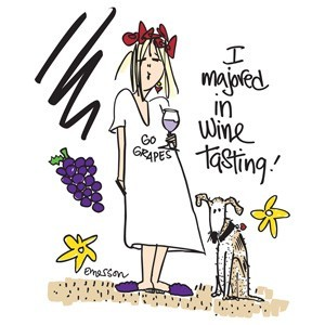 "Emerson Street ""I majored in wine tasting!"" Nightshirt in a Bag"