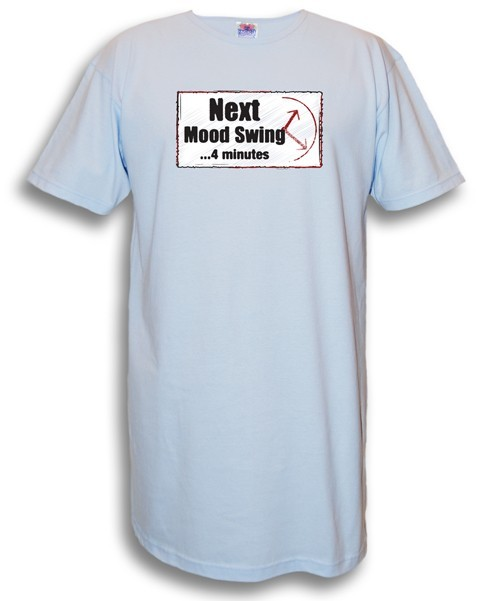 """Next Mood Swing..."" Nighshirt in Blue"