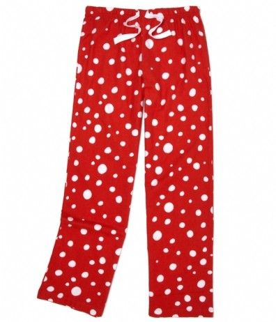 Little Blue House By Hatley Polka Dots Womens Flannel Pant In Red