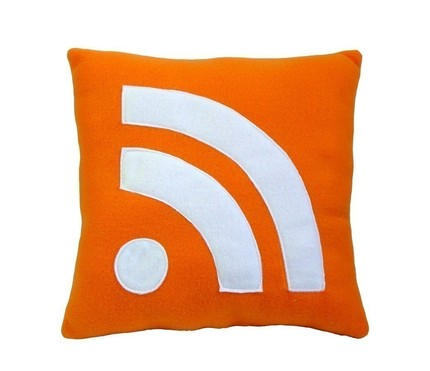 """RSS Icon"" Pillow from Craftsquatch"