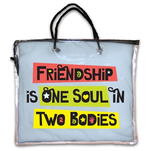 """Friendship is One Soul in Two Bodies"" Nightshirt in Blue"