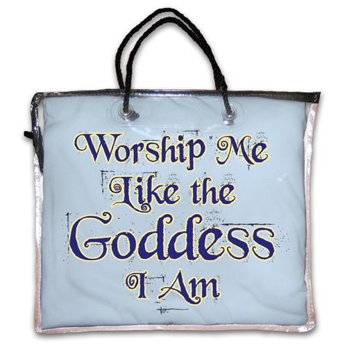 """Worship Me Like The Goddess I Am"" Nightshirt in Blue"