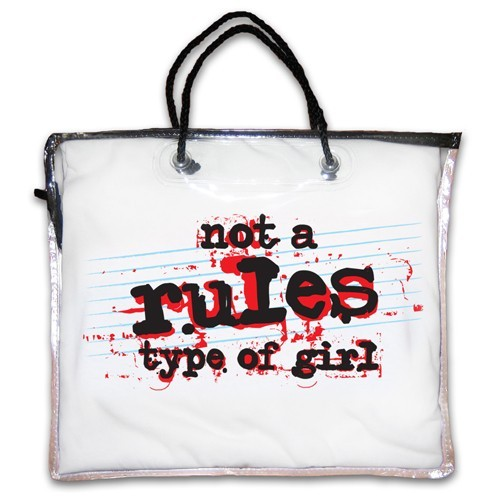 """Not A Rules Type of Girl"" Nightshirt in White"