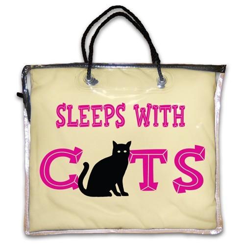 """Sleeps With Cats"" Nightshirt in Yellow"