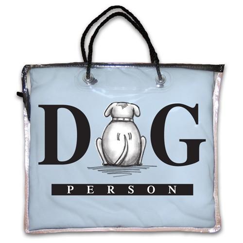 """Dog Person"" Nightshirt in Blue"