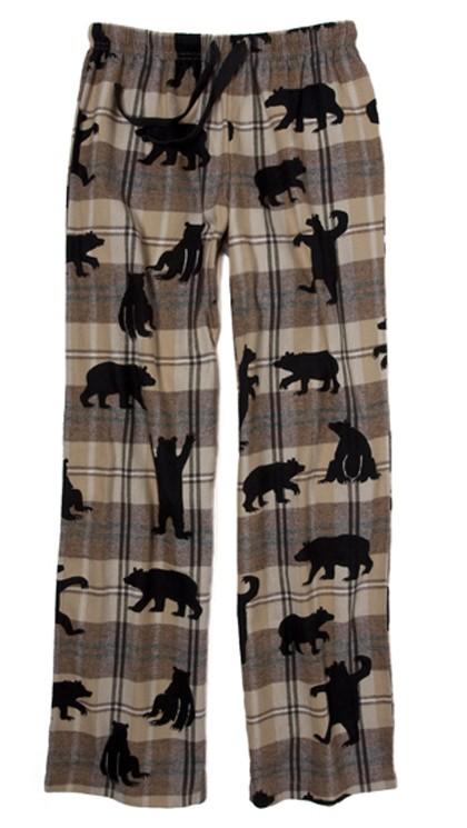 "Hatley Nature ""Bears on Plaid"" Women's Flannel Pajama Pant"