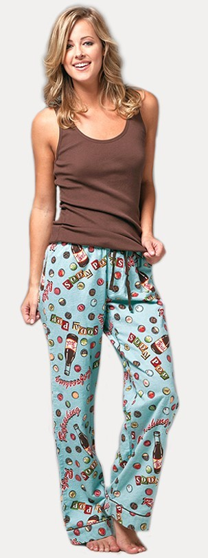 "PJ Salvage ""Soda Pop"" Women's Flannel Pajama Pant in Blue"