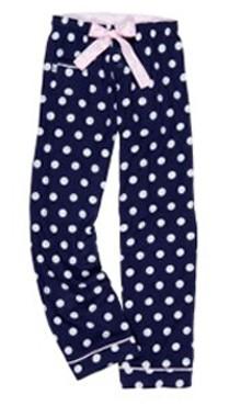 Boxercraft Navy Polka Dot Women's Flannel Pant