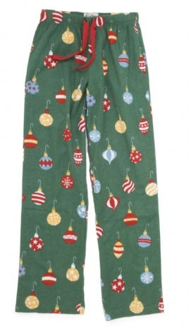 "Hatley Nature ""Ornaments"" Women's Flannel Pajama Pant in Green"