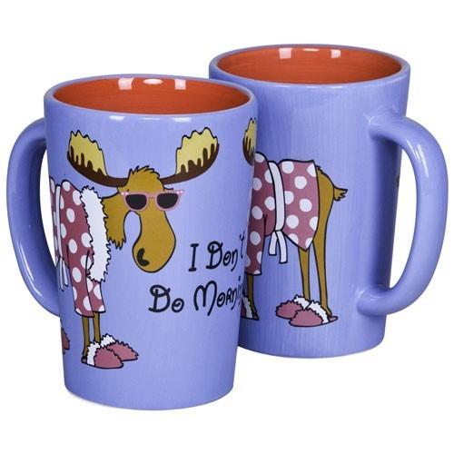 """Lazy One """"I Don't Do Mornings"""" Ceramic Mug"""