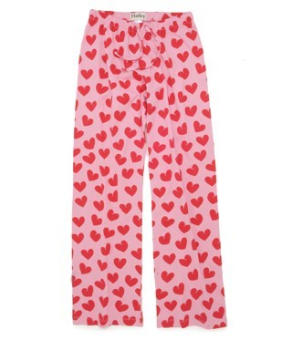 "Hatley Nature ""Hearts"" Women's Cotton Knit Pajama Pant in Pink"