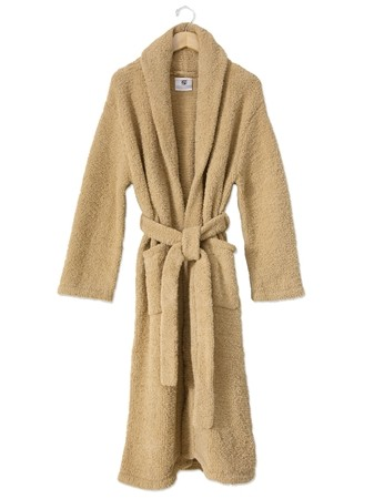 kashwere super soft shawl collared robe in camel