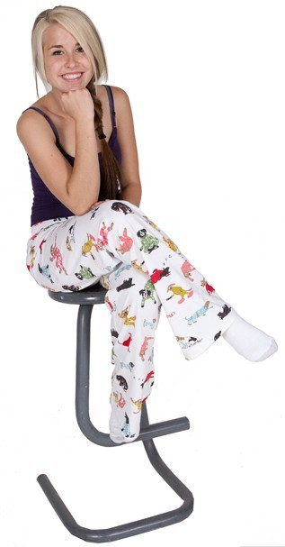 "Hatley Nature ""Ruff Night"" Women's Cotton Knit Pajama Pant in White"