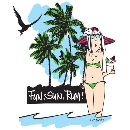 "Emerson Street ""Fun, Sun, Rum!"" Nightshirt in a Bag"