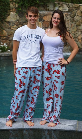 Lazy One Lobster Unisex Cotton Pajama Pant in Blue c2d4f340c
