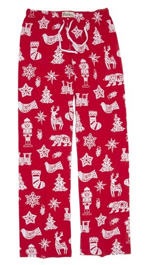 "Hatley Nature ""Bearly Sleeping"" Women's Flannel Pajama Pant in Red"
