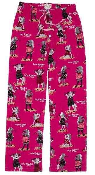 "Hatley Nature ""Fifty Shades of Hay"" Women's Cotton Knit Pajama Pant in Pink"