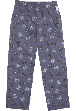 """Life is good Men's """"Tossed Pump Putt"""" Cotton Pajama Pant in Blue"""