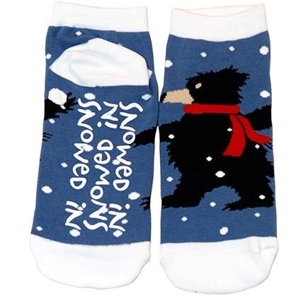 """Lazy One """"Snowed In"""" Women's Slipper Sock"""