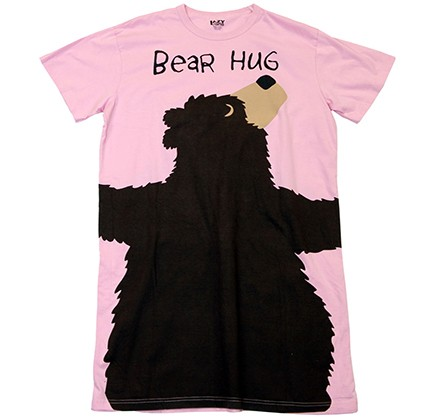 "Lazy One ""Pink Bear Hug"" Women's Nightshirt"