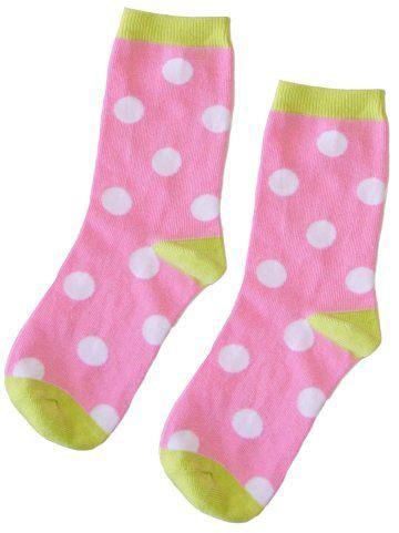 "PJ Salvage Women's Playful Prints ""Pink Dots"" Sock"