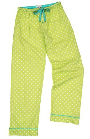"PJ Salvage Women's ""Citron Dot"" Cotton Capri Pajama Pant"
