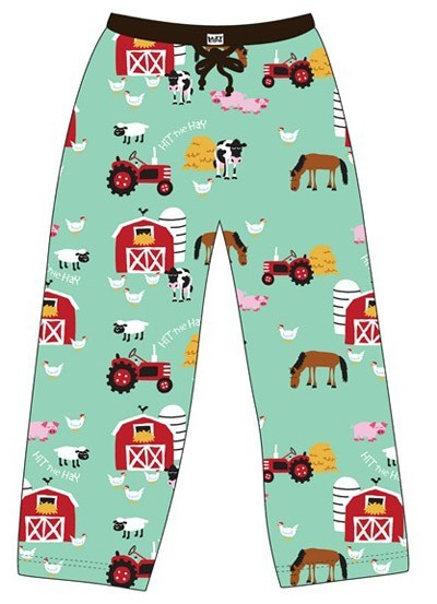 "Lazy One ""Farm"" Women's Pajama Pant in Aqua"