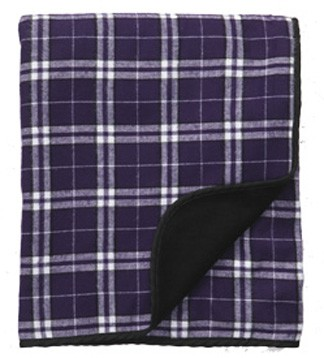 Boxercraft Purple Plaid Flannel Blanket