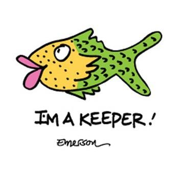"Emerson Street ""I'm A Keeper!"" Nightshirt in a Bag"