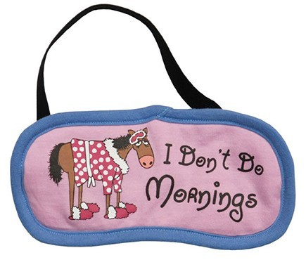 """Lazy One """"I Don't Do Mornings"""" Eye Mask in Pinnk"""