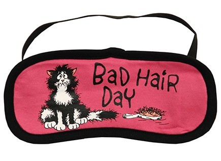 "Lazy One ""Bad Hair Day"" Eye Mask in Red"
