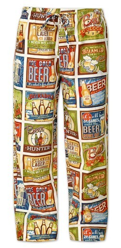 "The Cat's Pajamas Men's ""Beer"" Cotton Pajama Pant in Gold"