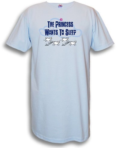 """The Princess Wants To Sleep"" Nightshirt in Blue"