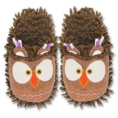 "Fuzzy Friends ""Owl"" Slippers from Aroma Home"