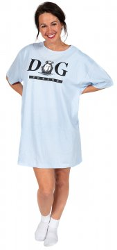 """Dog Person"" Nightshirt in Blue"