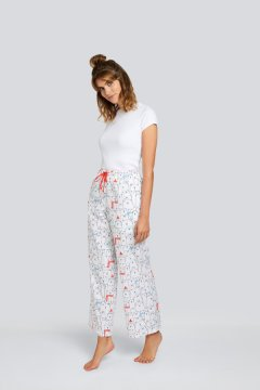 Daisy Alexander Beary Happy Cotton Pajama Lounge Pant