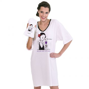 "Emerson Street ""Age Gets Better With Wine"" Nightshirt in A Bag"