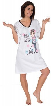 "Emerson Street ""Being Awesome is A Full Time Job!"" Nightshirt in a Bag"