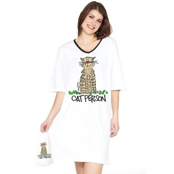 Emerson Street Cat Person Nightshirt in A Bag
