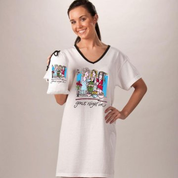 Emerson Street Girls Night In Nightshirt in a Bag