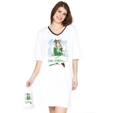 """Emerson Street """"Live Green!"""" Nightshirt in a Bag"""